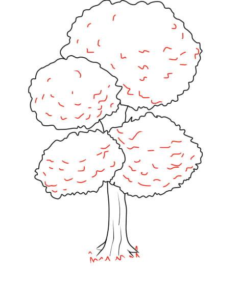 Árvore 2 5 - Aprender a Desenhar Árvores e Arbustos