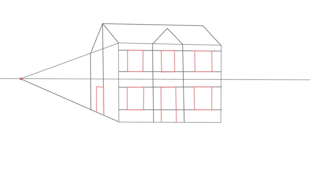 Aprender a desenhar casa de lado 10 1024x578 - Como desenhar uma casa de lado