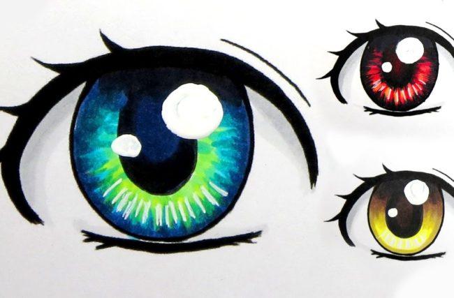 Como Desenhar Olhos De Mangá Passo A Passo