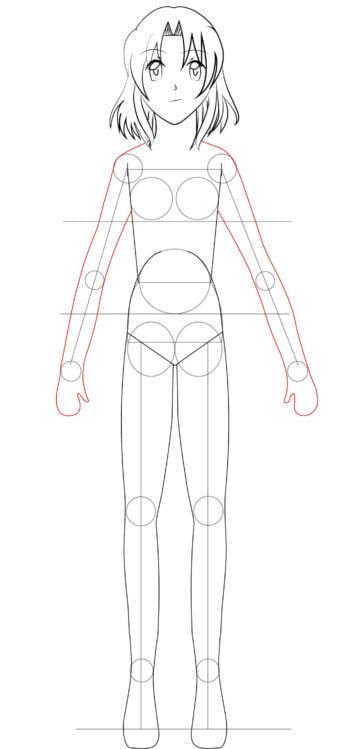 Corpo F 15 1 e1573395950912 - Como desenhar um personagem de anime passo a passo!