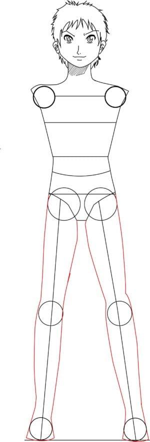 Corpo11 e1573392684588 - Como desenhar um personagem de anime passo a passo!