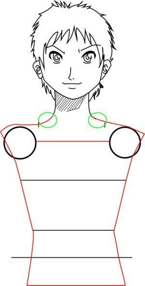 Corpo6 e1573392439169 - Como desenhar um personagem de anime passo a passo!