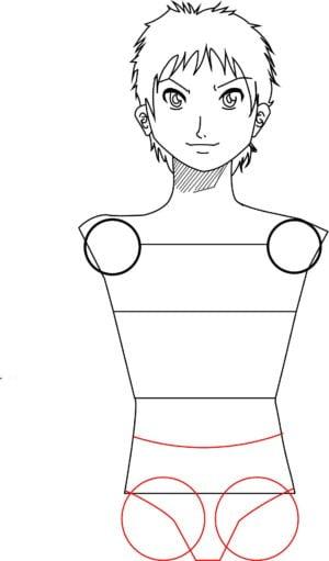 Corpo7 e1573392486206 - Como desenhar um personagem de anime passo a passo!