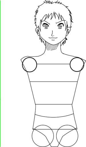 Corpo8 e1573392547482 - Como desenhar um personagem de anime passo a passo!