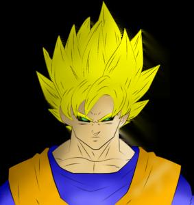 Goku FINAL 283x300 - Aprenda como desenhar o Goku nesse passo a passo completo!