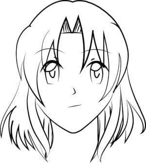 Rosto F 10 e1573394246565 - Como desenhar um personagem de anime passo a passo!