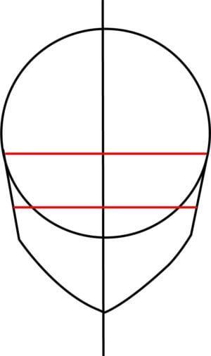 Rosto F 4 1 e1573393912852 - Como desenhar um personagem de anime passo a passo!