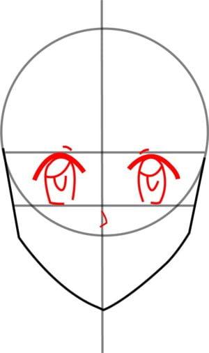 Rosto F 5 1 e1573393954245 - Como desenhar um personagem de anime passo a passo!
