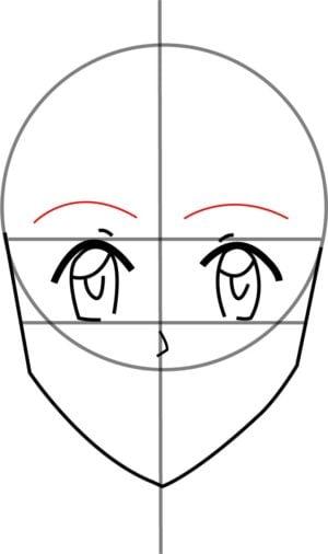 Rosto F 6 1 e1573394003613 - Como desenhar um personagem de anime passo a passo!