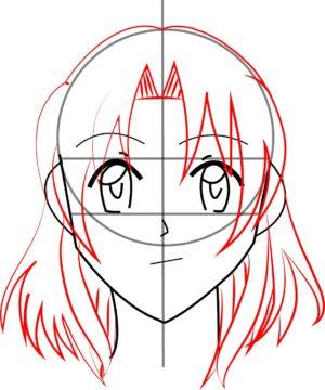 Rosto F 9 1 e1573394201760 - Como desenhar um personagem de anime passo a passo!