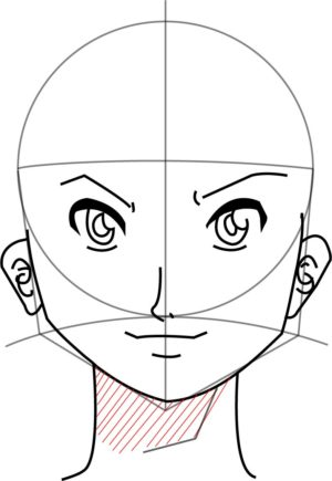 Rosto10 e1573391245207 - Como desenhar um personagem de anime passo a passo!