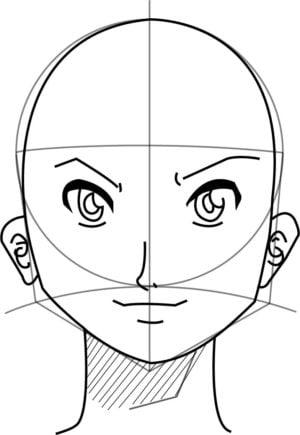 Rosto11 e1573391617718 - Como desenhar um personagem de anime passo a passo!