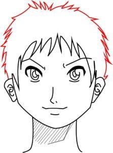 Rosto14 223x300 - Como desenhar um personagem de anime passo a passo!