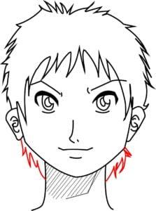 Rosto15 223x300 - Como desenhar um personagem de anime passo a passo!