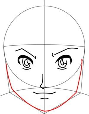 Rosto7 e1573391073468 - Como desenhar um personagem de anime passo a passo!