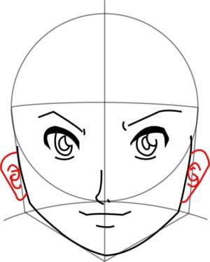 Rosto8 e1573391147915 - Como desenhar um personagem de anime passo a passo!