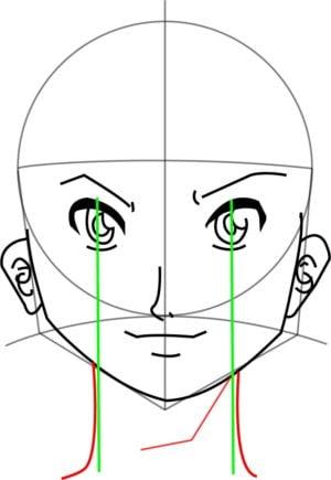 Rosto9 e1573391177551 - Como desenhar um personagem de anime passo a passo!