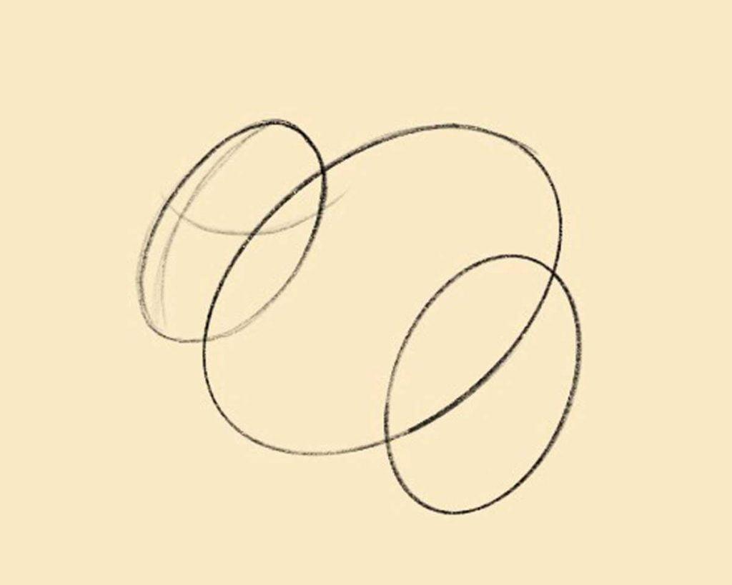 disegnare coniglio step 1 1024x819 1 - Como Desenhar Um Coelho