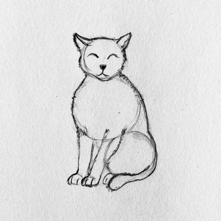 gato 4 - Como Desenhar Um Gato (Passo a Passo)